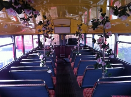 Historic London double deck Bus for weddings in London